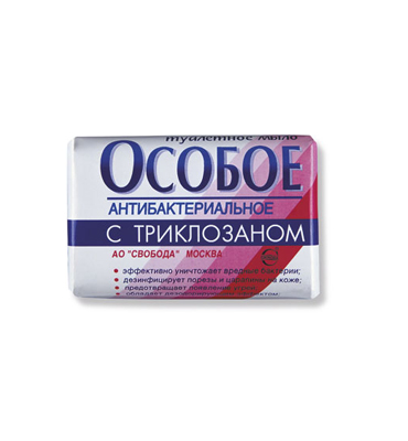 "Soap ""Osoboe"" with triclosan"