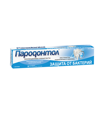 "Toothpaste ""Parodontol"" bacteri protection"
