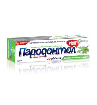 Зубная паста «Пародонтол PROF» Лечебные травы + отбеливание