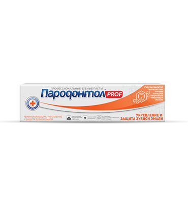 "Toothpaste ""Parodontol PROF"" Strengthening and protection of tooth enamel"