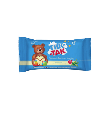 "Baby wet wipes ""Tick-Tak"" 100 pieces"