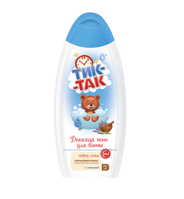 "Baby foam for bath ""Tick-Tak"" with lavender"