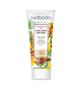 Cream scrub for the face SVOBODA for sensitive skin